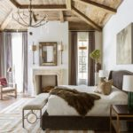 Award Winning Interior Design Marie Flanigan Master Bedroom Rustic Hide Rug Wood Beams
