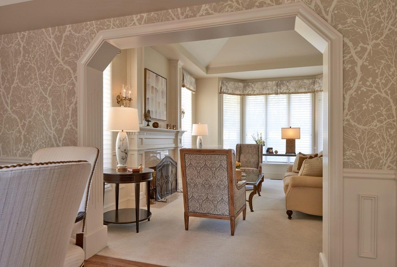 Grousemont Estates Living Room Arch Design Seattle