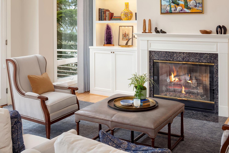 Lake Sammamish Waterfront Fireplace Design