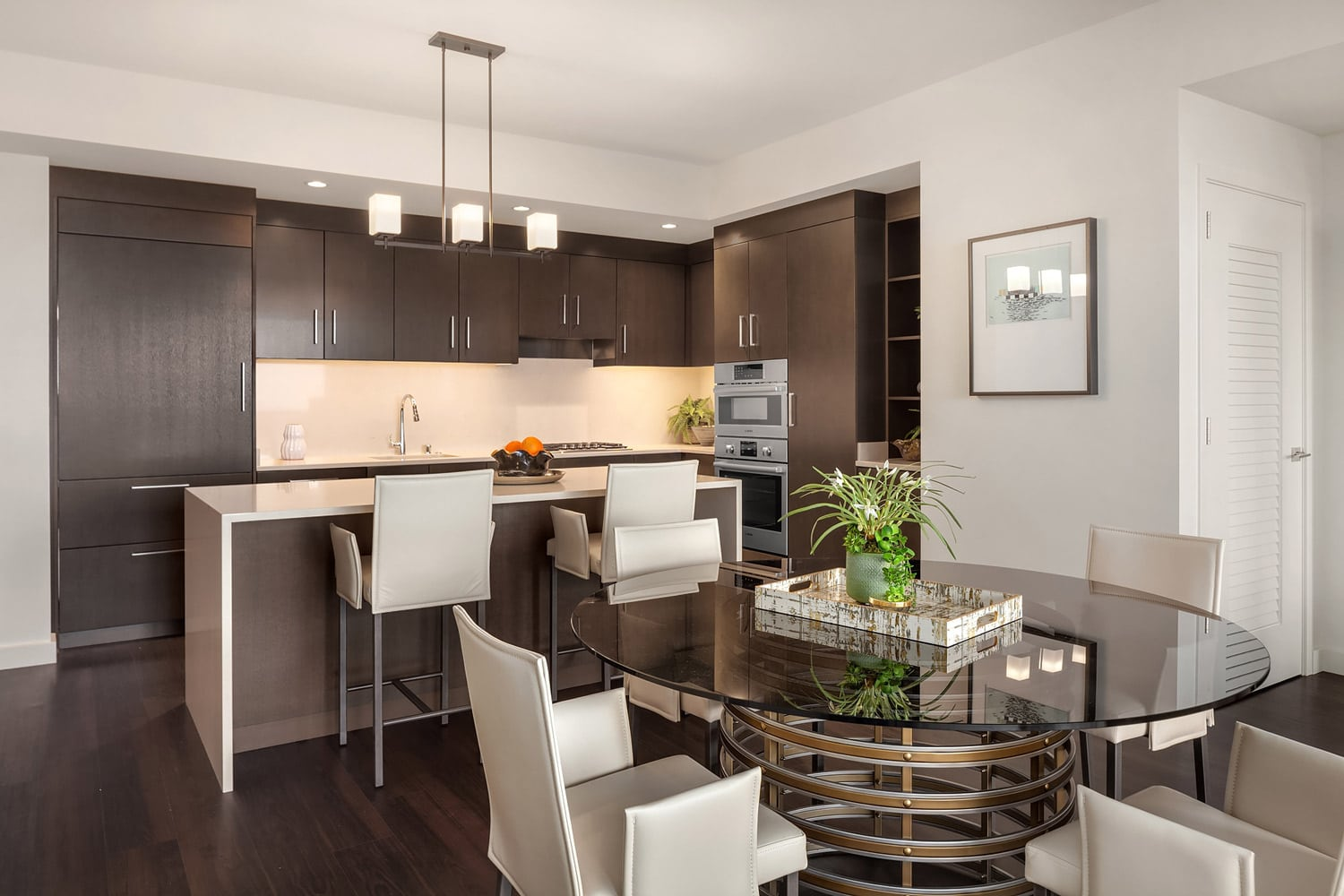 Lincoln Tower Bellevue Open Kitchen Interior Design