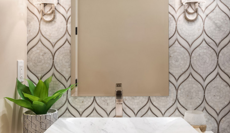 How to Series-Using Mirror, Marble and Glass in a Backsplash