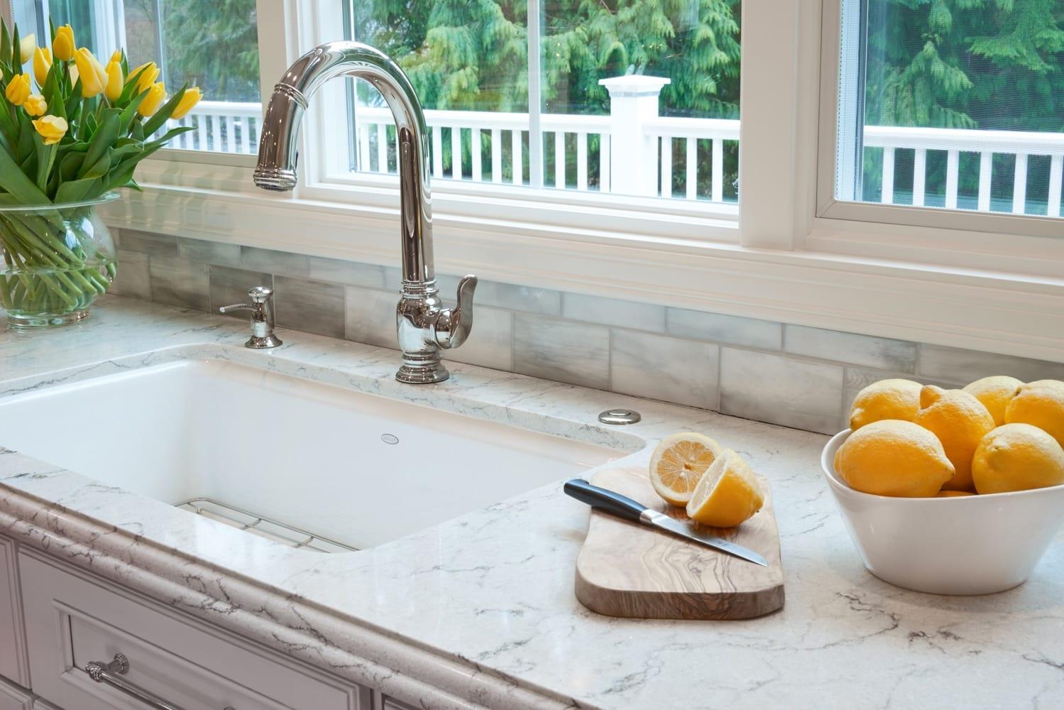 Bellevue Eastside Estate Kitchen Sink Design