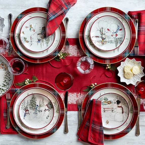 Classic Tartan Plaid Napkins Set Of 4 Red C