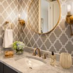 Belvedere Powder Room Wallpaper Design