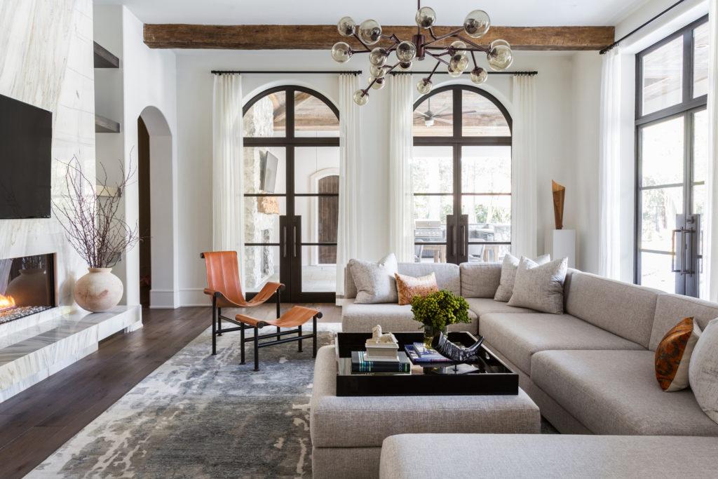 Award Winning Interior Design Marie Flanigan Living Room Steel Windows Organic Earthy