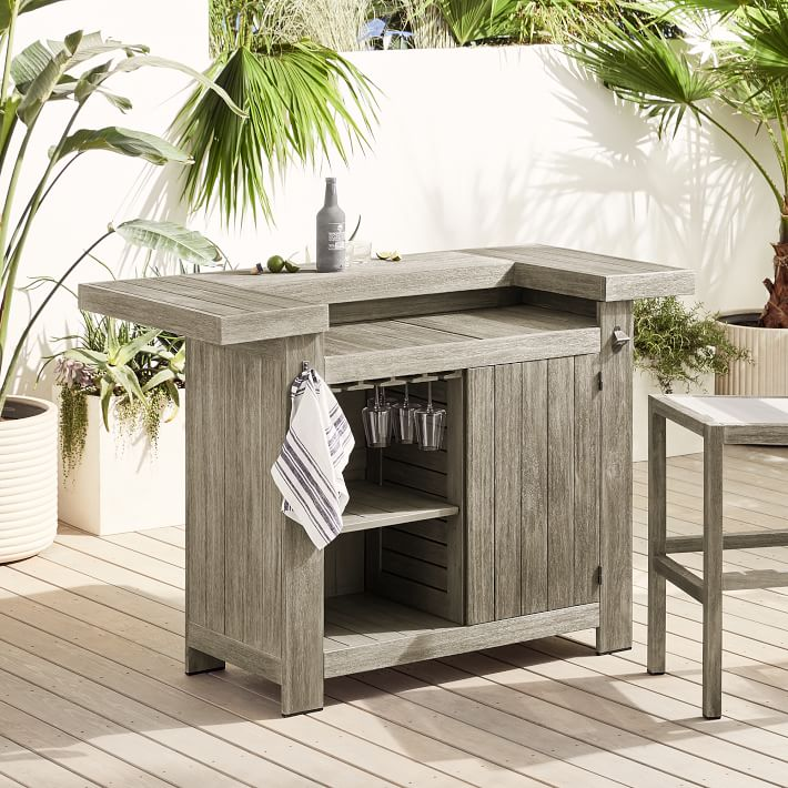 Portside Outdoor Grand Bar Weathered Gray 3 O 1