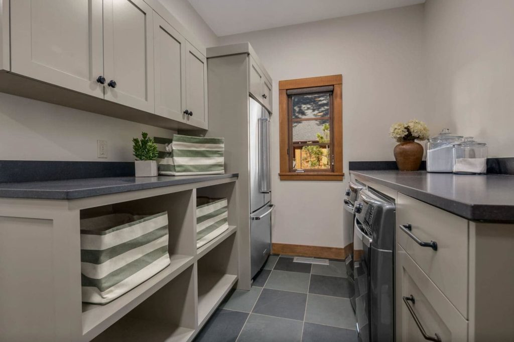 Cascade Mountain Home Laundry Room Interior Design
