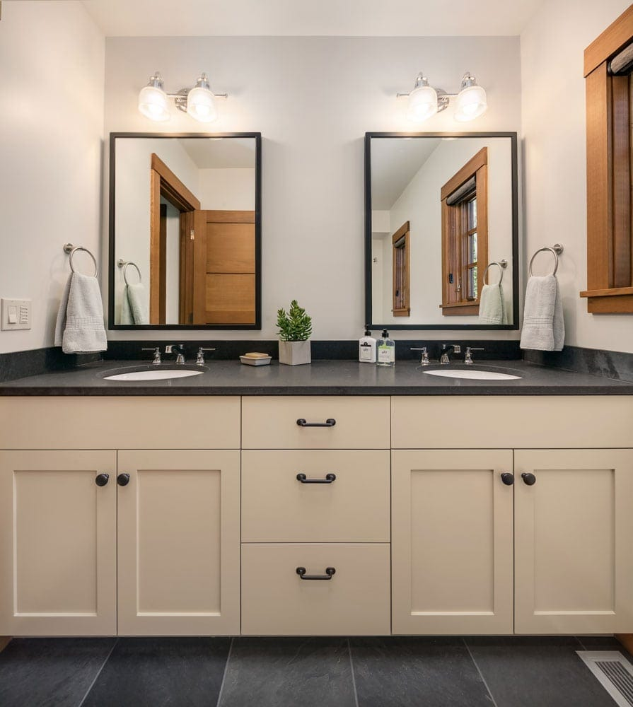 Cascade Mountain Home Vanity His Her Sink Design