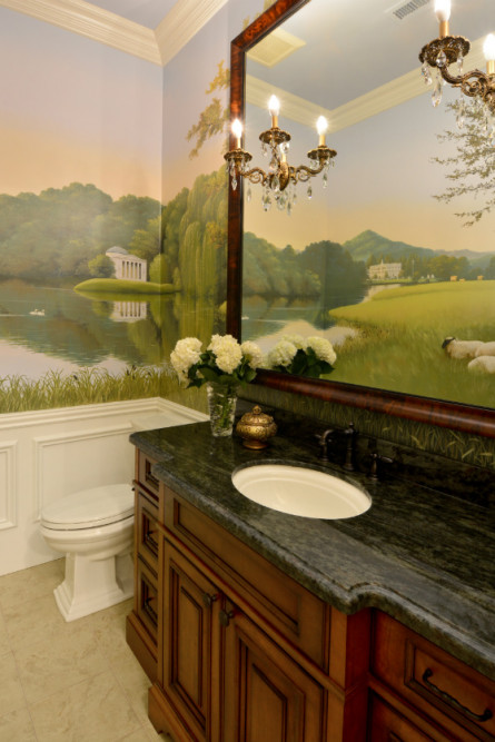 bathroom-with-landscape-mural-paint-walls