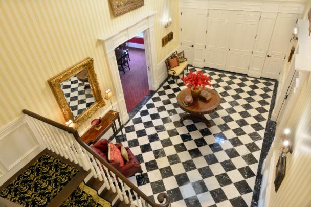 foyer-checkered-marble-floor-interior-design-michelle-yorke