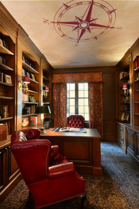 home-library-interior-design-issaquah-wa