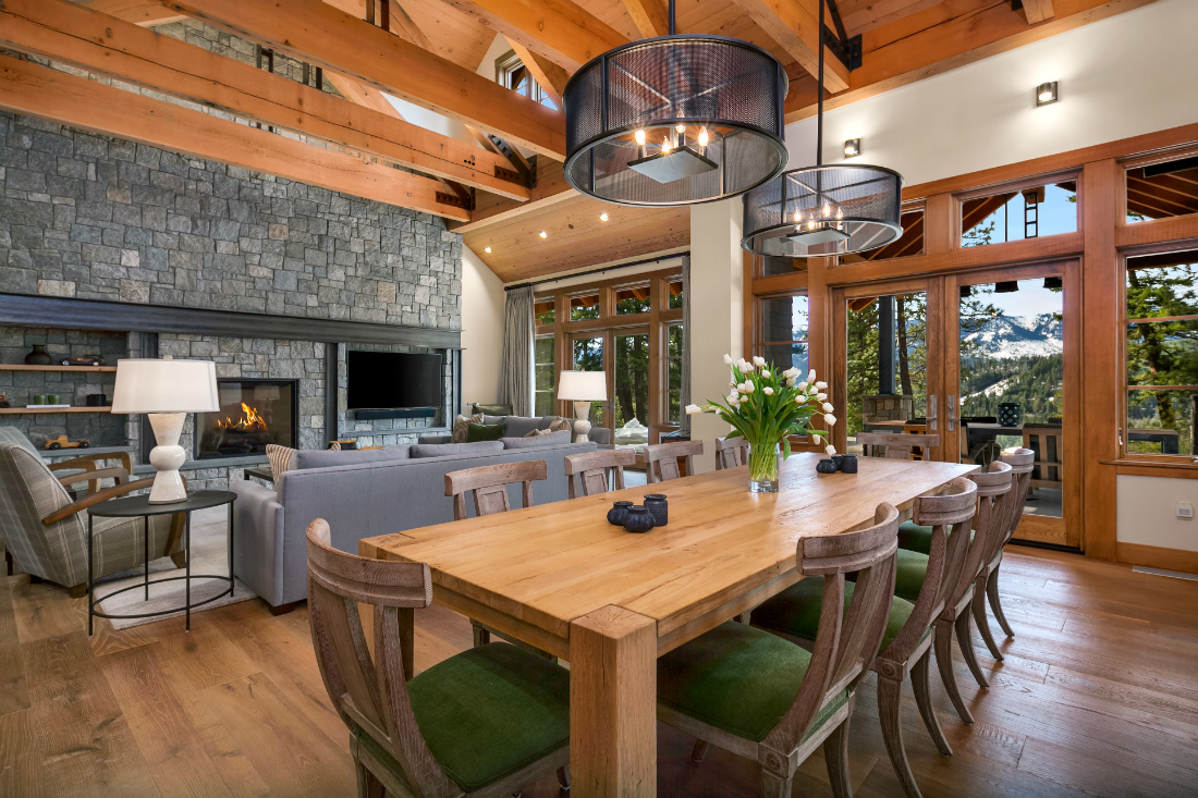 michelle-yorke-interior-design-wooden-dining-table-stone-fireplace