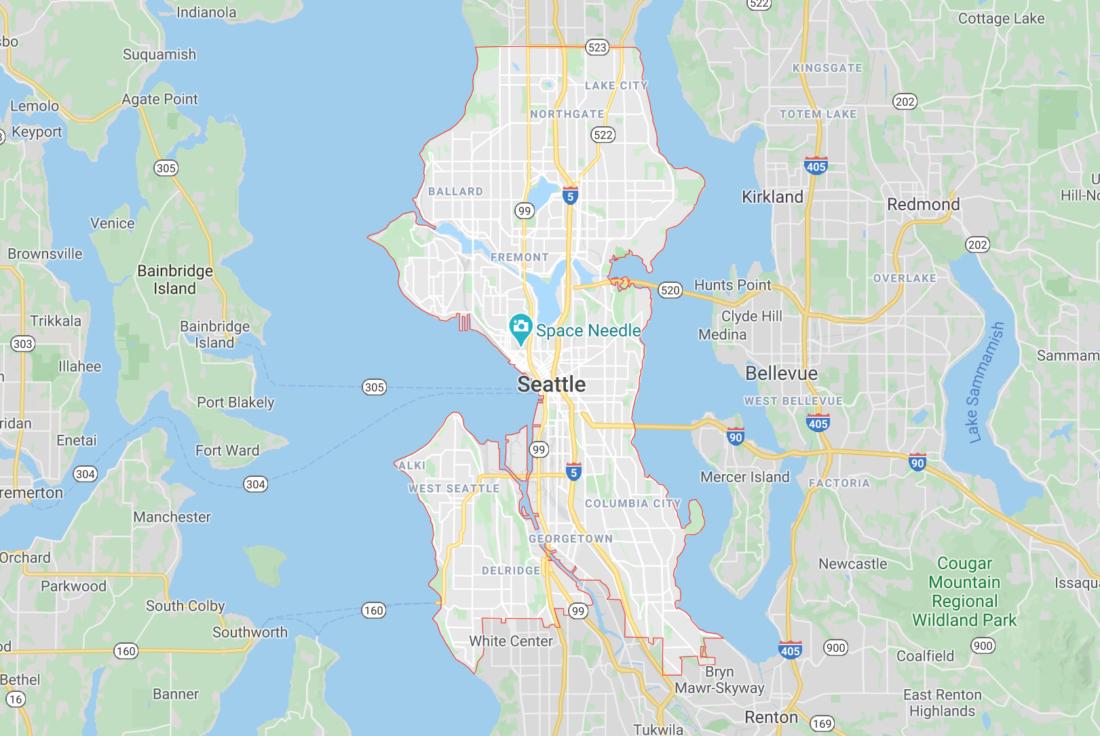 Seattle Wa Map Interior Design Michelle Yorke